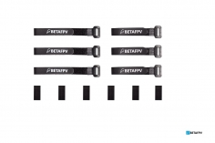 BetaFPV Akku Klettbänder mit Antirutsch Gummipads 10x115mm und 1x150mm je 3 Stück