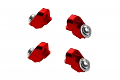 Rakonheli Landegestellhalterung aus Alu in rot für Blade Fusion 180