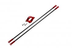 Rakonheli Heckstreben Carbon/Alu in rot für Blade 150 S