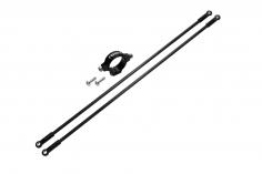 Rakonheli Heckstreben Carbon/Alu in schwarz für Blade 150 S