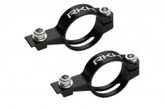 Rakonheli Heckservohalterung aus Alu in schwarz für Blade Fusion 180