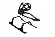 Rakonheli Landegestell,Heckmotorhalterung und Finnen Set aus Carbon in schwarz für Blade 150 S