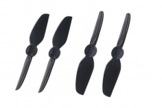 HQ Durable Propeller T3x3 mit 1.9/1.4/1.9mm Welle aus Poly Carbonate in schwarz je 2xCW+ 2xCCW