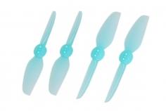 HQ Durable Propeller T3x3 mit 1.9/1.4/1.9mm Welle aus Poly Carbonate in blau transparent je 2xCW+ 2xCCW