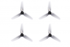 HQ Durable Propeller T3x2,5x3 mit 1.9/1.4/1.9mm Welle aus Poly Carbonate in grau transparent je 2xCW+ 2xCCW