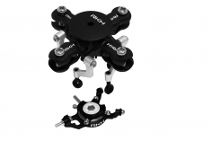 Rakonheli 4 Blatt Rotorkopf Set aus Alu in schwarz für Blade mCPX BL2