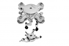 Rakonheli 4 Blatt Rotorkopf Set aus Alu in silber für Blade mCPX BL2
