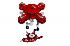 Rakonheli 4 Blatt Rotorkopf Set aus Alu in rot für Blade mCPX BL2