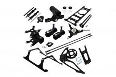 Rakonheli Tuning Set aus CNC Aluminium in schwarz für den Blade 150 S