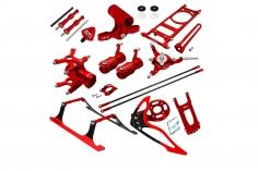 Rakonheli Tuning Set aus CNC Aluminium in rot für den Blade 150 S