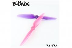 HQ Prop Ethix K2 Bubble Gum in pink und violet aus Poly Carbonate 6x4 2CW + 2CCW