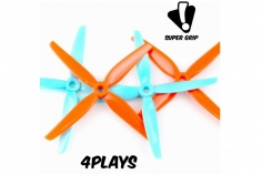 HQ Prop Ummagawd 4Play Prop Gulf in blau und orange aus Poly Carbonate 4.8x3.6 2CW + 2CCW