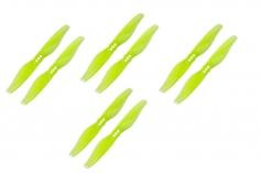 Gemfan 2 Blatt Propeller Hurricane 3018 3,0×1,8 1,5mm Welle je 4x CW und 4 x CCW in gelb transparent