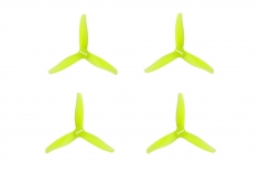 Gemfan 3 Blatt Propeller Hurricane 3016 3,0×1,6x3 2mm Welle je 4x CW und 4 x CCW in gelb transparent