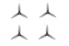 Gemfan 3 Blatt Propeller Hurricane 3016 3,0×1,6x3 1,5mm Welle je 4x CW und 4 x CCW in grau transparent