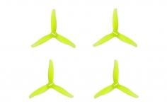 Gemfan 3 Blatt Propeller Hurricane 3016 3,0×1,6x3 1,5mm Welle je 4x CW und 4 x CCW in gelb transparent