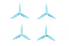 Gemfan 3 Blatt Propeller Hurricane 3016 3,0×1,6x3 1,5mm Welle je 4x CW und 4 x CCW in hell blau