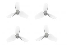 HQ Micro Whoop 3 Blatt Propeller 31mm je 2 Stück CW und CCW für 1mm Welle in weiß transparent