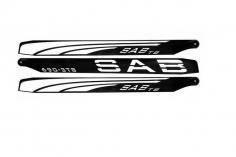 SAB THUNDERBOLT S 3Blatt 690mm CFK Hauptrotorblätter