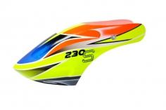 Microheli Fiberglas Haube Speed Racimg im blau gelbem  Design für den Blade 230 S und 230S V2