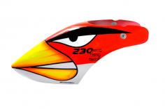 Microheli Fiberglas Haube Angry Bird im rotem Design für den Blade 230 S und 230S V2