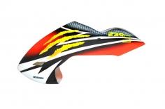 Microheli Fiberglas Haube Monster Scratch im rot gelbem  Design für den Blade 230 S und 230S V2
