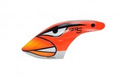 Microheli Fiberglas Haube Angry Bird im rotem Design für den Blade 150 S