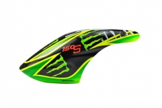 Microheli Fiberglas Haube Green Monster im schwarz grünem Design für den Blade 150 S