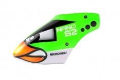 Microheli Fiberglas Haube Green Angry Bird im grünem Design für den Blade Nano S2