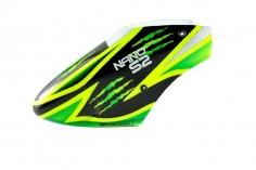Microheli Fiberglas Haube Green Scratch im schwarz grünem Design für den Blade Nano S2
