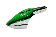 Microheli Fiberglas Haube Green UAV im grün schwarz weißem Design für den Blade 230 S und 230S V2