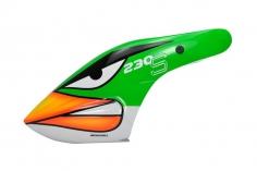 Microheli Fiberglas Haube Angry Bird im grünen Design für den Blade 230 S und 230S V2