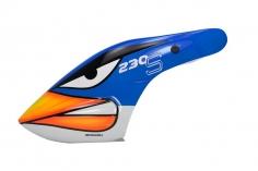 Microheli Fiberglas Haube Angry Bird im blauen Design für den Blade 230 S und 230S V2