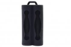 EFest Silikon Schutzhülle in schwarz für 18650 Akkus doppelt