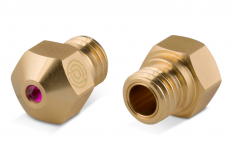 Premium Ruby Messing Nozzle (Rubindüse) MK10 / M7 1Stück 0,6mm