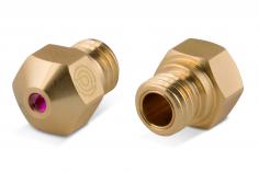 Premium Ruby Messing Nozzle (Rubindüse) MK10 / M7 1Stück 0,4mm