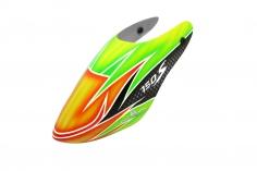 Rakonheli Fiberglas Haube HM69 in orange grünem Design für den Blade 150 S