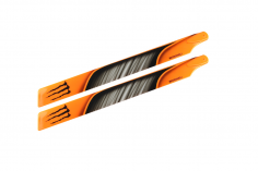 Microheli Kunststoff Hauptrotorblätter im orange schwarzem Monster Design 240mm für Blade 230 S, 230 S V2