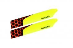 Microheli Kunststoff Hauptrotorblätter in gelb 85mm für Blade Nano CP X, Cp S , CP S2