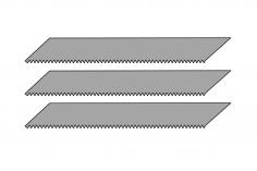Sägeblätter für Designermesser 3 Stück