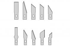 Ersatzklingen für Designermesser 10 Stück