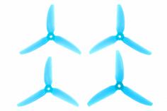 HQ Durable Prop Propeller 5X4,3X3V2S aus Poly Carbonate in blau transparent je 2CW+2CCW