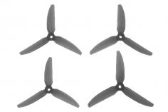 HQ Durable Prop Propeller 5X4,3X3V2S aus Poly Carbonate in grau transparent je 2CW+2CCW