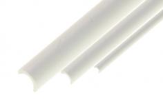 Kunststoffhalbrohr aua ASA AussenØ 7,0mm x InnenØ 6,0mm in weiß 1 Meter