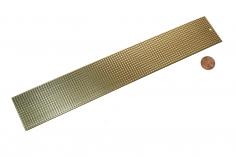 Messing Riffelblech quadratisch 40x250mm