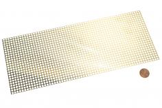 Messing Tritt-/Lüfterblech quadratisch 100x250mm