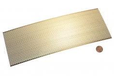 Messing Tritt-/Lüfterblech Raute 90x250mm