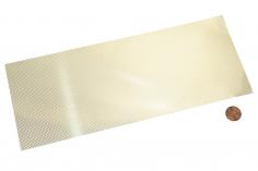 Messing Tritt-/Lüfterblech feinmaschig Raute 100x250mm