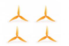 T-Motor Dreiblatt Propeller POPO T5147 aus  Poly Carbonat in orange transparent 5,1x4,7x3 2cw und 2ccw