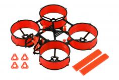 Carbon und 3D Druck Tuningrahmen für Mobula6 in rot